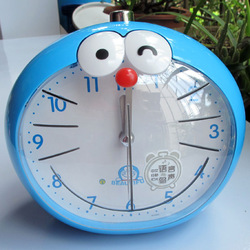 free shipping Fashion luminous speak mute alarm clock cartoon gift voice DORAEMON(China (Mainland))