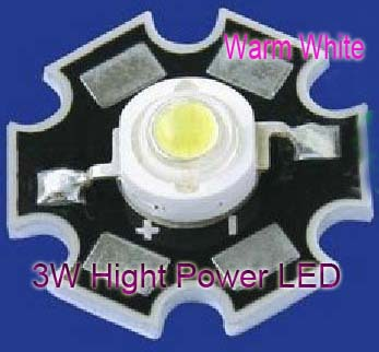 10PCS 3W High Power Warm White LED Light Emitter 2700-3200K with 20mm Heatsink