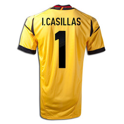 Thai Quality 1# IKER CASILLAS 12-13 Spain home Goalkeeper Jerseys yellow shirts 2012-2013 Cheap Soccer Jerseys(China (Mainland))