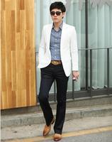 Male suit slim blazer male white blazer men's fashion thin suit jacket