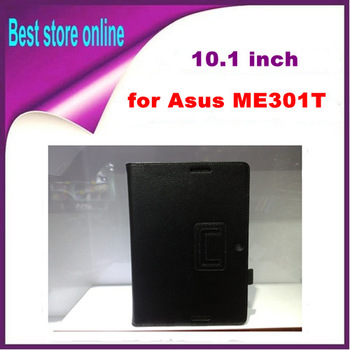 "Free Shipping Stylus Pen + New PU Leather Case Cover Stand Skin for Asus Memo Pad Smart ME301T 10.1"" Mix Color Perfect Fit"