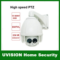 1/3 SONY CCD 650TVL 23X intelligent IR waterproof IP 66 Outdoor CCTV PTZ Camera IR distance 120M Preset Points 220