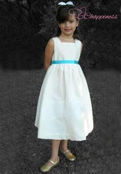 Free Shipping Square Knee Taffeta Flower Girl Dress Style bridal dresses prices(China (Mainland))