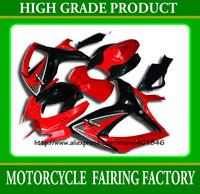 Red black plastic new aftermarket  for SUZUKI k6 GSX R750 R600 06 07 motorcycle GSXR600/750 2006 2007 fairings kit