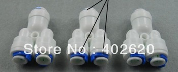 "Y type Water fittings , two way splitter, 1/4"" thread, plastic water fittings, free shipping"