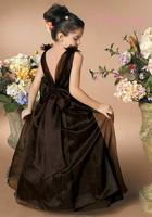 New Arrivals Ball Gown Jewel Floor Length Organza Flower Girl Dress Style