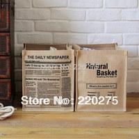 jute zakka desktop storage box natural basket box storage bag Brief laundry bucket storage bag cloth storage basket eco-friendly