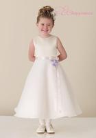 Elegant A Line Jewel Satin/ Organza Flower Girl Dresses