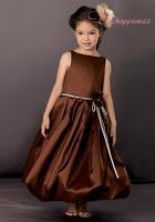 Luxurious Bateau Floor/Ankle Length Iridescent Taffeta Flower Girl Dress Style Wedding Gown Cap Sleeve