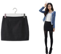 SALE! Spring Autumn Winter Ladies' Mini Skirt A-line Basic Skirt Woolen Bud Skirt