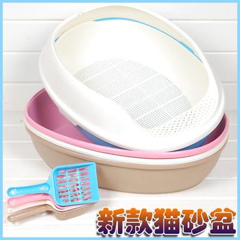 Thickening cat toilet 2 3 belt pedal half closed cat litter shovel antiperspirant antibiotic litter box