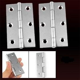"3.5"" Length Silver Tone 300 Degree Adjustable Butt Hinge 4 Pcs Free Shipping"