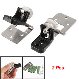 2 Pcs Wall to Glass Adjustable Hinges w Installing Parts Free shipping