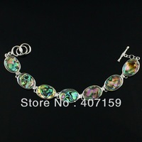 New Fashion Beautiful Mother of Pearl Abalone Shell Bracelet Charms OT Buckle Bangle Bracelet Wholesale
