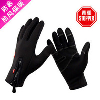 Motorcycle electric vehicles weatherization wind waterproof ski gloves Ms. men's gloves free shipping