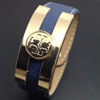 NEW Lady  Button Wide bracelet 2013 Fashion Punk Top Quality Leather Gold Bangles dropshipping free shipping T13032241