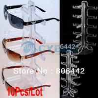 10Pcs/Lot Eyeglasses Sunglasses Frame Plastic Glasses Display Rack Stand Holder Free Shipping 10308