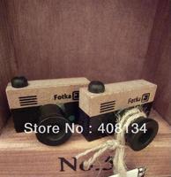 Free Shipping,1 pcs wood stamp +1 ink pad per set,  Funny vintage camera shape stamp,gift stamp set,kids rubber stamps,4 sets