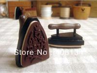 Free Ship,1pcs wood stamp +1 ink pad/set, vintage iron shape French merci rubber stamps,DIY funny Work,gift wooden Stamp,4 sets