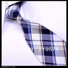 Mens itália seda marinha tecido moda laço formal B014
