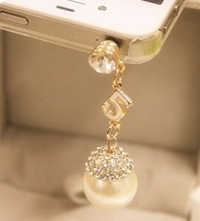 For for apple iphone 4 dust plugs rhinestone dust plug dust plug earphones hole dust plug