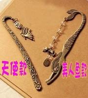 Fashion accessories vintage fairy decorative pattern mermaid beaded bow bookmark