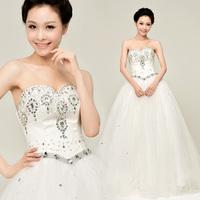 YHZ2013 new wedding dress Korean Korean version of the royal princess diamond lace wedding luxury sexy Qi