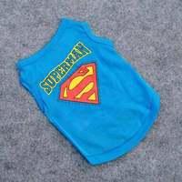 Cute Pet Puppy Dog Vest Superman dog Clothes T-Shirt clothing 9116