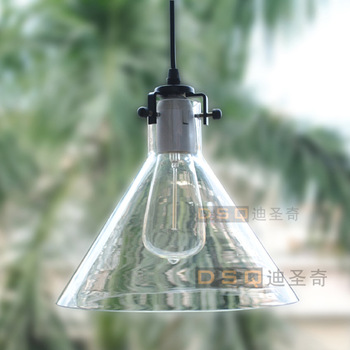 Modern American Country Style Crystal Funnel Pendant Light