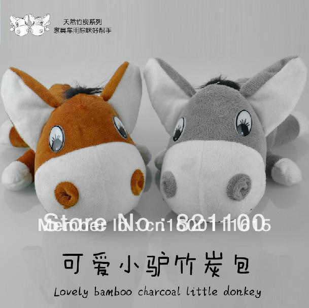 The package cute toy motor home decoration safe journey donkey carbon addition to taste purify the air Free Shipping(China (Mainland))