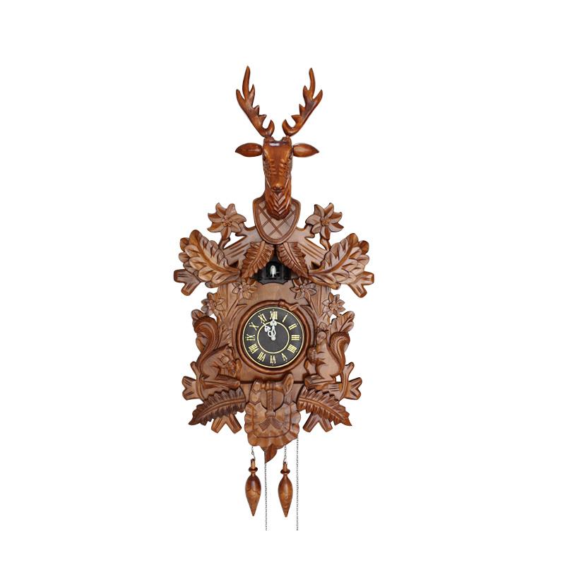 Handmade wooden clocks promotion online shopping for - Wooden cuckoo clocks ...