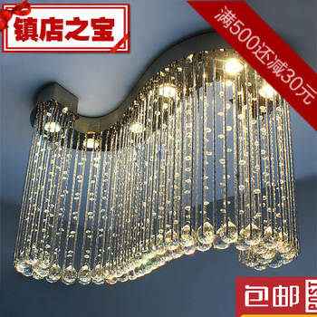 Free shipping 2013 New items Pendant Lights Modern brief k9 crystal lighting hanging wire crystal lamps
