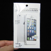 60pcs/lot (30front +30back)free shipping anti glare screen protector for iphone 5 5GS