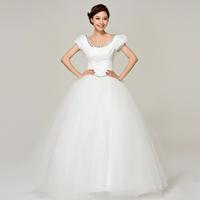 YHZKorean Korean Puff shoulders sweet princess wedding dress Qi 2013 new word shoulder wedding