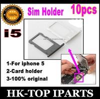 10pcs 100% original Sim Card Slot Tray Holder for iPhone 5 5G free shipping YL1214/5