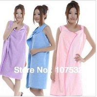 Free shipping microfiber Creative Variety Magic bath towel can be worn 5 colors 150x85cm