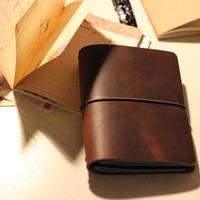 Travelers diary  Note book 100% genuine cowhide leather notepad handmade