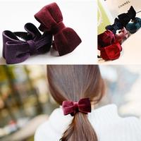 Korean ' corduroy bow multicolor vintage fashion banana clip