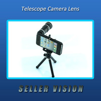 Optical 12x Zoom Telescope Lens + Tripod with Case Camera For i Phone 4 4S