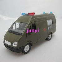 Free shipping Cars military van model 6/7 model military bus acoustooptical WARRIOR