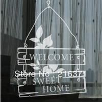 DIY Welcome Sweet Home paste glass stickers decoration window/door/wall stickers