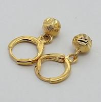 Min order 10 usd ! Free Shipping! Fashion nice ball beads pendant 18k gold plated female design earring  XEA03