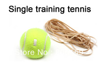 Free Ship Practice Professional Training Tennis Balls with Rubber Band 2pcs
