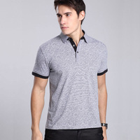2013 summer men's clothing male business casual short-sleeve t-shirt men's stripe cotton short-sleeve T-shirt