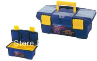 "19"" Tool Box, High Quality Plastic Tools Case for Component & Small Hand Tool Storage"