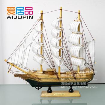30cm wool sailboat model sailing handmade wood model ship model