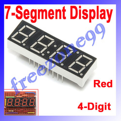 20pcs/lot 7 Segment Display Common Anode LED display 4-Digit (Red) FZ0426 Free Shipping Dropshipping(China (Mainland))