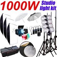1000Ws Godox 4 x 250Ws 250DI Studio Strobe Photo Flash Light with Softbox Umbrella Carry Bag Kit