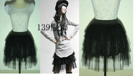 fashion , 3 yarn high waist puff skirt princess dress - yarn tulle dress free shipping