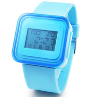 Square jelly table electronic watch unisex table mens watch ladies watch child watch ultra-thin waterproof